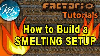 Factorio: HOW TO BUILD A SMELTING SETUP - Tutorial, guide